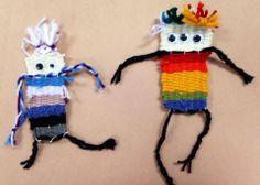 """2nd Grade Weaving """"Minions""""  Art Teacher: Tana Reichel Puppe"""