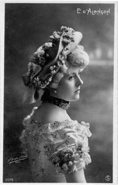 Emilienne D'Alencon, (1869-1946), was a cabaret dancer and courtesan.