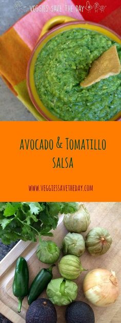 Not sure what to do with tomatillos? They are great raw in this easy Avocado & Tomatillo Salsa, which goes perfectly with chips, veggies, or tacos. Click to get the recipe, or pin and save it for later!
