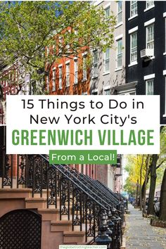 Things to Do in Greenwich Village NYC | Planning what to do in Greenwich Village NYC? Use this guide, written by a local, with tips about favorite restaurants, shops, where to have brunch, eat NYC pizza, see neighborhood favorites like the Friends or Carrie Bradshaw Apartments, as well as what to do at night in the Village. Us Travel Destinations, Amazing Destinations, Places To Travel, Work Travel, Usa Travel, Business Travel, Travel Ideas, Travel Inspiration, Travel Tips