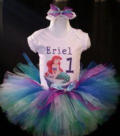 little mermaid birthday tutu, under the sea tutu, mermaid birthday party tutus, ariel tutu, little mermaid tutus, under the sea tutu by TutusOfHeaven on Etsy