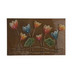 This gorgeous metal flower garden wall sculpture adds a distinctive touch of elegance to any room in your home. Enhance your décor quickly and easily with this stylish accent piece.