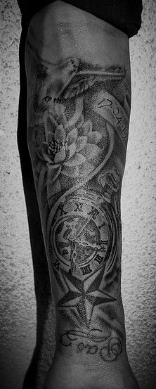 dove tattoo men forearm tattoo clock lotus flower tattoos