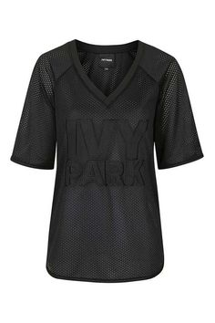 Logo Mesh Tee by Ivy Park - Topshop Ivy Park, All Black Outfit, Kpop Fashion Outfits, Topshop Outfit, Athletic Wear, Athleisure, Active Wear, Tees, How To Wear