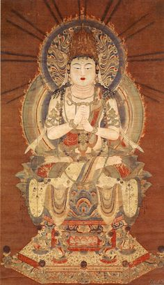 Dainichi Nyorai: the sun Buddha, called Vairocana or Mahāvairocana; a celestial buddha who is often interpreted, in texts like the Flower Garland Sutra, as the Bliss Body of the historical Buddha (Siddhartha Gautama). In Chinese, Korean, and Japanese Buddhism, Vairocana is also seen as the embodiment of the Buddhist concept of Emptiness. In the conception of the Five Wisdom Buddhas of Vajrayana Buddhism, Vairocana is at the centre.