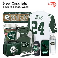 New York Jets Fans - Pin It to Win It All! You can win a complete back to school NFL prize pack worth over 300 dollars! To enter, pin your favorite NFL Team's Back to School image to win every item in the collage! #FansEdge –Visit http://www.fansedge.com/promotions.aspx?social=pinterest_nfl_pintowin to enter