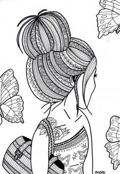 Girl Coloring Sheets free printable coloring pages for teens italien forum info Girl Coloring Sheets. Here is Girl Coloring Sheets for you. Girl Coloring Sheets free printable coloring pages for teens italien forum info. Doodle Art Drawing, Zentangle Drawings, Mandala Drawing, Cool Art Drawings, Art Drawings Sketches, Zentangles, Drawing Ideas, Zentangle Patterns, Black Pen Drawing