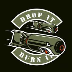 Bomb | Premium Vector #Freepik #vector #design #shirt #tshirt #drop Graphic Design Typography, Graphic Art, Armas Airsoft, Dessin Old School, Iphone Wallpaper Video, Pinstriping Designs, Military Drawings, Graffiti Wall Art, Airplane Art