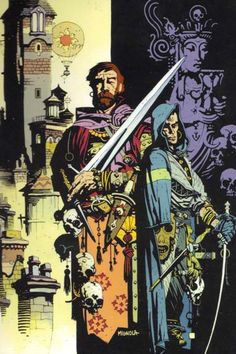 Fafnir & the Grey Mouser art by Mike Mignola