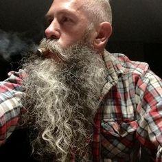 for men who love long bearded men Beards And Mustaches, Bad Beards, Grey Beards, Long Beards, Long Gray Hair, Men With Grey Hair, Barba Grande, Beard Head, Bald With Beard