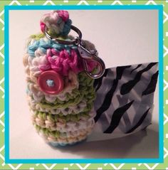 Crocheted waste bag holder - pinned by pin4etsy.com