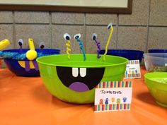 Monster-themed Baby Shower: Taco Bar Bowls