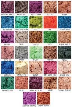 Mini Mineral Eye Shadow 5 Gram Jar Choose 5 and by ParloCosmetics, $6.00