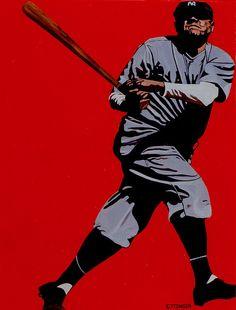 Babe Ruth, painted by Jennifer Ettinger