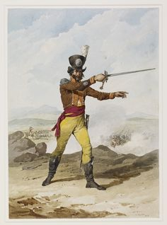 Officer, Loyal Distinguished Cadiz Volunteers, 1813 Punic Wars, Cadiz, Spain And Portugal, Napoleonic Wars, Warriors, Military, Superhero, Pictures, Fictional Characters