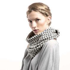 Tuba Szal Komin Czarno Biały Pepitka w CADO accessories na DaWanda.com