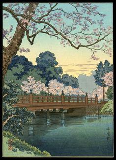 Benkei Bridge in Spring   Artist: Kiyochika, Kobayashi, 1847-1915  Date: 20th century