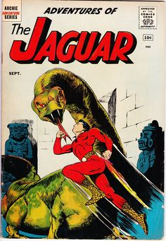 Adventures of the Jaguar #1 (1st Series 1961) September 1961    Archie Adventure Comics   Grade Fine