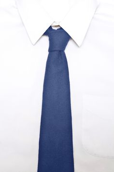 Cobalt 100% Felted Wool Long Tie
