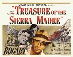 Directed by John Huston. With Humphrey Bogart, Walter Huston, Tim Holt, Bruce Bennett. Two Americans searching for work in Mexico convince an old prospector to help them mine for gold in the Sierra Madre Mountains. Humphrey Bogart, Old Hollywood Movies, Classic Hollywood, Elements Of Film, Edward G Robinson, Incredible Film, John Huston, Classic Movies, Classic Tv