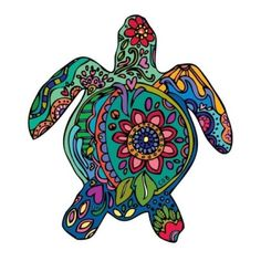turtle art images, image search, & inspiration to browse every day. Sea Turtle Art, Turtle Love, Sea Turtles, Mandala Turtle, Psy Art, Turtle Painting, Hawaiian Tattoo, Tortoises, Gravure