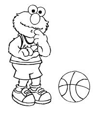 Elmo Plays Football Coloring Page | Coloring pages | Pinterest ...
