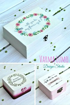 Will you be my Bridesmaid/Maid of honor/Flowergirl ? Ask your girls with a customized box www.etsy.com/...