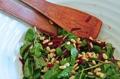 A Little Bit Greedy: Pretty in pink: beetroot and watercress salad