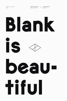 being blank is...it?