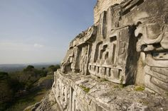 View of west facing frieze of Mayan temple in Belize. - Henry Georgi/Getty Images
