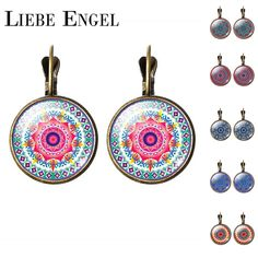Find More Stud Earrings Information about LIEBE ENGEL NEW Arrival Mandala Stud Earrings OM Symbol Buddhism Zen Retro Jewelry Fashion Earrings  Women Online Shopping India,High Quality jewelry supplies earrings,China earrings sapphire Suppliers, Cheap earrings claires from LIEBE ENGEL Official Store on Aliexpress.com