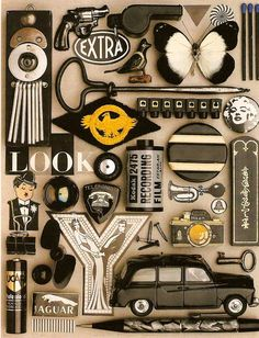 Organized Collections by Guido Cecere bricolage-julier. Collections Of Objects, Displaying Collections, Color Collage, Collage Art, Things Organized Neatly, Collections Photography, Color Studies, Assemblage Art, Collages