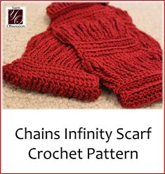 Chains Infinity Scarf Crochet made with Wool-Ease byYarn Obsession