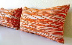 Orange decorative pillows. My Room, Spare Room, Bedroom Themes, Bedroom Ideas, Orange Color, Orange Zest, Little Greene, Orange House, Orange Pillows