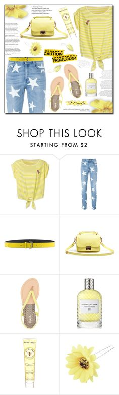 """Stripes shirt."" by patria ❤ liked on Polyvore featuring STELLA McCARTNEY, Jil Sander Navy, Lacoste L!VE, Qupid, Bottega Veneta, Burt's Bees, Chicnova Fashion, Valentino and stripedshirt"