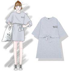 to the owner Fashion Design Template, Fashion Design Sketches, Susanoo Naruto, Korea Dress, Cool Outfits, Casual Outfits, Fashion Magazin, Korea Fashion, Korean Outfits