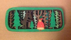 Little Red in the deep dark woods brooch by gabiReith on Etsy