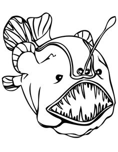 Deep Sea Creatures Coloring Pages