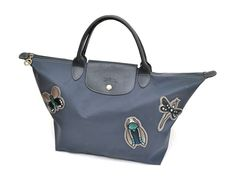 Auth Longchamp Limited Edition Modele Depose Dragonfly Nylon Shopper Bag Tote  #Longchamp #TotesShoppers