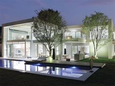modern house exterior design and yard landscaping ideas