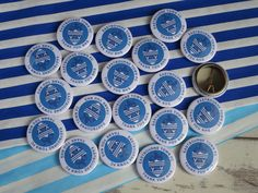 Custom badges/personalised badges made from your own designs. Design your own custom badges using our template & upload your custom badge designs directly on our website. Perfect for promo badges, schools, events & charities. Personalised Badges, Custom Badges, Custom Buttons, Badge Template, Badge Creator, Thing 1, Badge Design, Button Badge, Business School