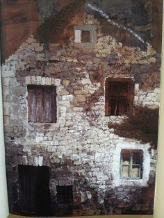 La maison de pierre 1974 tempera sur papier 100x80 by Safect Zec