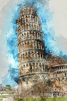 Leaning Tower Of Pisa In Italy By Brandon Bourdages Travel Wall