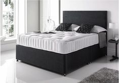 Superking Bed Plush Velvet Divan with Free Mattress Headboard & Delivery UK Cantilever Architecture, Oma Architecture, Kids Bed With Slide, Divan Sets, Super King Size Bed, King Size Beds, Superking Bed, Bed Room, Leather Bed