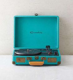 Crosley X Turquoise Cruiser Briefcase Portable Vinyl Record Player