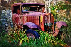Old rusting truck Photograph  - Old rusting truck Fine Art Print  This would've been loads of fun to play in as a kid!