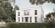 Die pergolaüberdeckte Loggia eröffnet einen schönen Blick in den Garten.