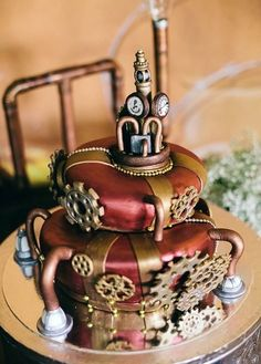 Steampunk cake by Chloe