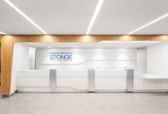 Interior design dental Clinic // white // blue // angles// A2DESIGN