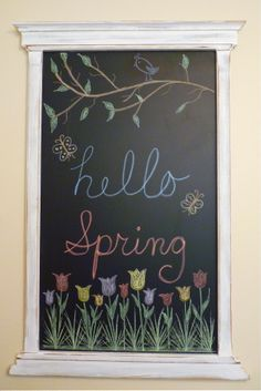 My new Spring chalkboard